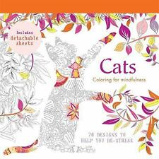 CATS: 70 DESIGNS TO HELP YOU DE-STRESS : US1-R1C : PB 013 : NEW BOOK