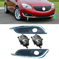Front Bumper Fog Light Lamp Cover With Bulbs 4pcs Fit For Buick Regal 2014-2017