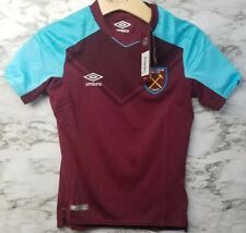 Umbro West Ham United Boys Youth Small 2017 2018 Home Football Soccer Jersey