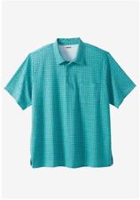 NWT MEN PLUS SIZE BIG AND TALL Golf Polo With Pocket SIZE XL-9X