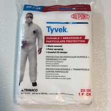 Two 2 Tyvek Size 2x3x Protective Suits Coveralls