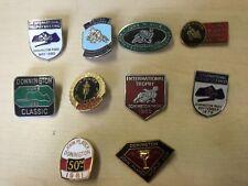 RARE LOT OF 10 Donington Park 1980`s Motorcycle Racing Pin Badges