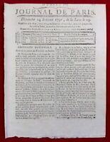 Duveyrier 1791 Andernach Allemagne Comte d'Artois Condé Tours Louhans Porrentruy