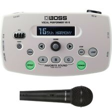 BOSS VE-5 Vocal Performer Effects Processor Looper White + Peavey Mic + Cable