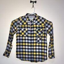 Levi Strauss & Co Plaid Shirt Mens Two Horse Brand Black Yellow Size XL [S16]