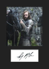 GAME OF THRONES - SANDOR CLEGANE (Rory McCann) #2 A5 Signed Mounted Print