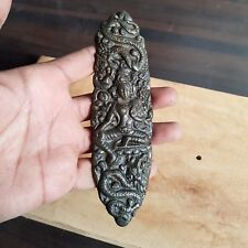 "5Pc Antique Style Rustic Brown 6"" Goddess TARA Cast Iron Door Handle/Barn"
