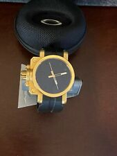 Oakley Gearbox Polished Gold Watch Swiss Made Rare 26-322