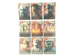 Stargate SG-1 Premier Edition Chase Card Set Complete Aliens 2001 Rittenhouse