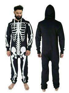 Men's Halloween Skeleton Print 1ONESIE All in One Jumpsuit