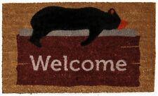 Bear Doormat Rug Indoor Outdoor Welcome Mat Rustic Cabin Lodge Entry Animal New