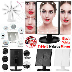 24 LED Light Make Up Mirror With Illuminated 1X 2X 3X Magnifying Dressing Table