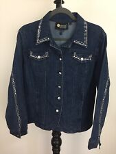 Christine Alexander size L studded denim jacket