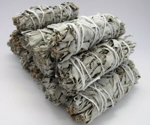 10X Cali White Organic Sage Smudge 4''-5'' Wands House Cleansing Negativity