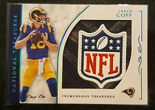 2016 National Treasures JARED GOFF 1/1 ROOKIE PATCH NFL LOGO SHIELD RC LA RAMS