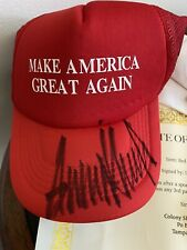 Donald Trump Maga Hat Hand Signed w/Coa Official President signature + Extras