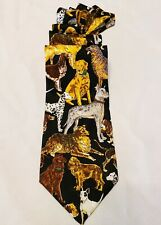 Dog Neck Tie 100% Silk Addiction Dog Breeder Lab Retriever Shepard Pit Bull 58""