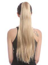 Queue de Cheval Extension Blond Tresse Épingle à Cheveux-Papillon Lisse Long