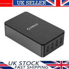 ORICO 34W 4-Port USB Charger with Detachable UK Plug Mains Lead for Smartphone