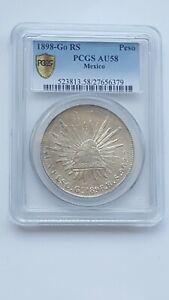 1898-Go RS Mexico Peso - PCGS AU58