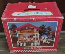 Japanese Hello Kitty Wooden Dollhouse - Fits Sylvanian Families Calico Critters