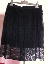 Next Skirt Size 10 Black Lace New BNWT 10 £40.00 New Party Gothic
