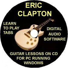 Eric Clapton 152 Guitar Tabs Software Lesson CD, 39 Backing Tracks & Bonuses