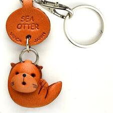 Sea Otter Handmade 3D Leather Sea Animals Keychain *VANCA* Made in Japan#56311