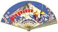 JAPAN  Scandinavian Airlines   Vintage-Looking    Sticker-Decal-Luggage Label