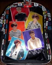 One DIRECTION Backpack NeW Full Sz Canvas Book Bag Harry Liam Louis Zayn Niall