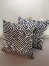"""Set of 2 - Grey Herringbone Decorative Indoor Outdoor Throw Toss Pillow 18in 18"""""""