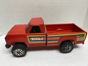 1980's Tonka Red Pick Up Truck Black Windows Complete Look At Photos