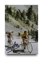 Bernard Hinault Hand Signed 6x4 Photo Tour De France Autograph Memorabilia + COA