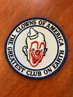 Vtg Clowns Of America Patch Wall Decor Red White Blue Greatest Club On Earth
