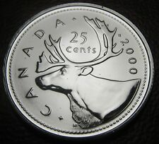 RCM - 2000-w - 25-cents - Caribou - Proof Like - Uncirculated