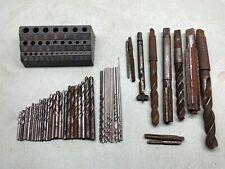 Metal Drill Bits Tool Lot Hss Machinist Woodworking Metal Twist Usa Chuck Bore