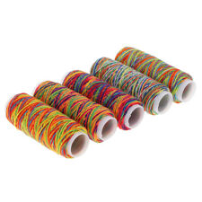 5pcs Rainbow Sewing Thread Hand Machine Thread for Upholstery Leather Bag