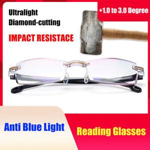 2 Pack Reading Glasses Womens Mens Anti Blue Light + 1.0 1.5 2.0 2.5 3.0 uk