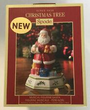 NIB Spode Christmas Tree Santa Musical Figurine Rare Santa Claus