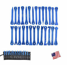 28 PC AUTOMOTIVE INSTALLER TRIM MOLDING WINDSHIELD DASH REMOVAL WEDGE TOOL SET
