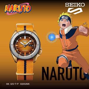 SEIKO 5 Sports Naruto & Boruto NARUTO UZUMAKI Limited Edition Men Watch SRPF70K1