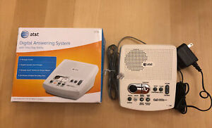 AT&T Corded Digital Answering System 1739 White W/ English And Spanish Prompts