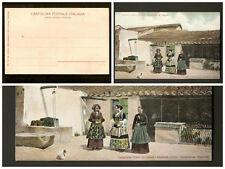 Cartolina Cortile d'una casa del Campidano di Cagliari – non viaggiata