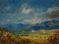 Contemporary Art/ Original Painting by American Artist Holly Piers / Landscape
