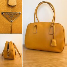Prada Bag Handbag Vintage Top Handle Bowling Bag Tote | Yellow Ochre | PRADA