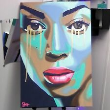 24x36 Beyonce' Acrylic Painting
