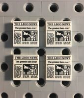 Lego Newspaper Tile 2x2 The Lego News Smooth Finning Tiles New Lot Of 4