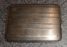 fine old sterling silver cigarette case