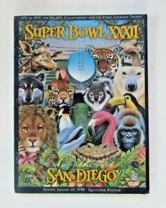Super Bowl XXXII 32 Denver Broncos vs Green Bay Packers NFL Football Program