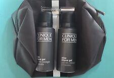Clinique for men aloe shave gel 41ml x 2, chemistry after shave 7ml bag set New